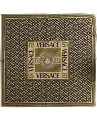 Versace FOULARD IN SETA LA MEDUSA - Verde