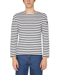"""Saint James T-SHIRT """"MINQUIERS MODERNE"""" IN COTONE A RIGHE - Bianco"""