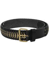 DSquared² Samurai Belt With Brass Insert - Black