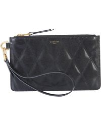 Givenchy Small Quilted Leather Pouch With Wrist Lace - Black