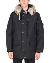 "Parajumpers ""kodiak"" Down Jacket With Fur Edged Hood - Black"