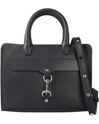 Rebecca Minkoff Mini Leather Satchel Bag - Black