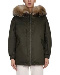 """Mr & Mrs Italy """"m51"""" Midi Parka With Fur Lining - Green"""
