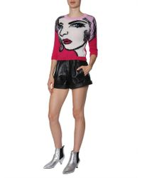 Moschino - Mohair Jumper With Eyes Intarsia - Lyst