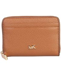 MICHAEL Michael Kors Mott Leather Wallet In Hammered Leather - Brown