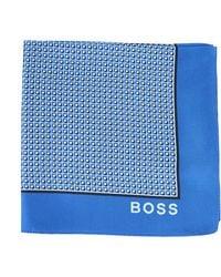 BOSS by Hugo Boss Printed Silk Scarf With Logo - Blue