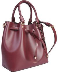 MICHAEL Michael Kors Blakely Bucket Leather Bag - Red
