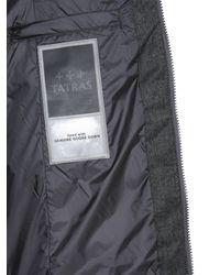 """Tatras """"laviana"""" Virgin Wool Down Jacket With Fur Edged Hood - Grey"""