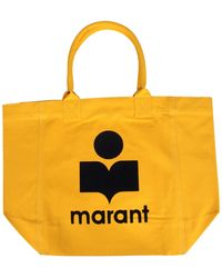 Isabel Marant Yenky Canvas Tote Bag - Yellow