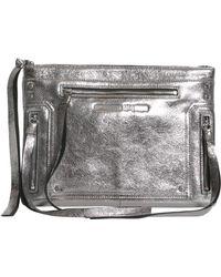 McQ - Metallic Cracklè Leather Loveless Pouch - Lyst