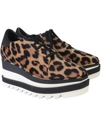 Stella McCartney Elyse Lace-up With Leopard Print - Multicolour