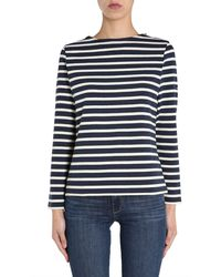 """Saint James """"meridame Ii"""" Cotton Knit T-shirt With Striped Pattern - Blue"""