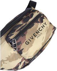 Givenchy Camoflauge Print Belt Bag With Logo - Black