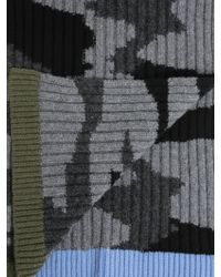 Valentino Camouflage Wool Scarf - Grey