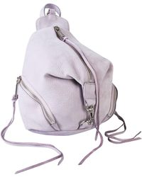 Rebecca Minkoff Mini Julian Convertible Leather Backpack - Purple
