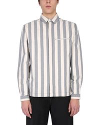 Sunnei Shirt With Striped Pattern And Pockets With Zip - Multicolour