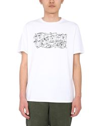 """Golden Goose Deluxe Brand """"adamo"""" Cotton Jersey T-shirt With Logo - White"""