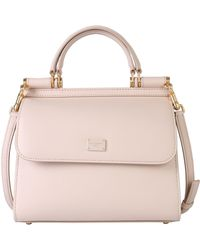 Dolce & Gabbana Small Sicily 58 Leather Bag - Pink