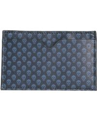 Alexander McQueen - Micro Skull Printed Leather Card Holder - Lyst