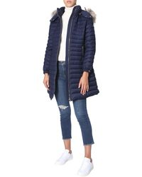 "Tatras ""cima"" Wool Down Jacket With Removable Hood - Blue"