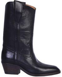 Étoile Isabel Marant Texan Danta Leather Boots - Black