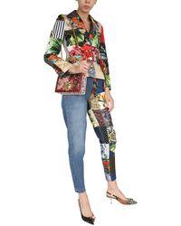 Dolce & Gabbana JEANS CARROT SHAPE CON DETTAGLI JACQUARD PATCHWORK - Blu