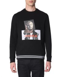 "Neil Barrett - ""gangsta 02"" Printed Cotton Crew Neck Sweatshirt - Lyst"