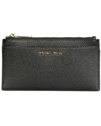 MICHAEL Michael Kors Hammered Leather Thin Wallet - Black