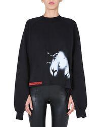 Rick Owens Drkshdw Vega Oversize Fit Combo Sweatshirt - Black