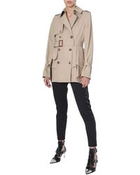 Alexander McQueen Flared And Pleated Gabardine Cotton Trench - Natural
