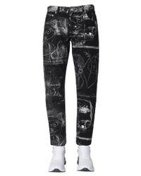 Alexander McQueen Jeans With John Deakin Print - Black