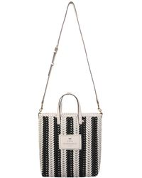 """Anya Hindmarch - Small """"the Neeson N / S"""" Striped Leather Tote Bag - Lyst"""