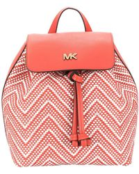 MICHAEL Michael Kors Junie Backpack In Double Colour - Red