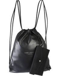 Saint Laurent - Teddy Leather Backpack - Lyst