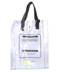 Marcelo Burlon Warning Shopping Bag - Multicolour