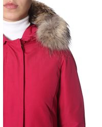 "Woolrich - ""arctic"" Down Jacket With Fur Rimmed Hood - Lyst"