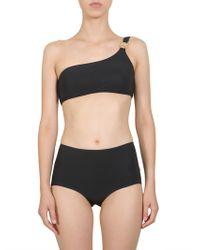 Tory Burch High Waist Bikini Slip - Black