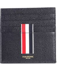 Thom Browne - Hammered Leather Card Holder - Lyst