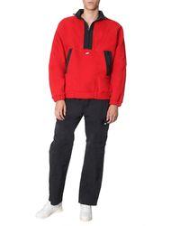 MSGM Embroidered Fleece Sweatshirt With Zip