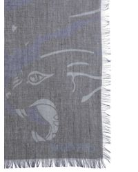 Valentino Modal Blend Camupanther Scarf - Multicolour