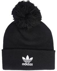 adidas Originals Adicolor Bobble Hat With Logo - Black
