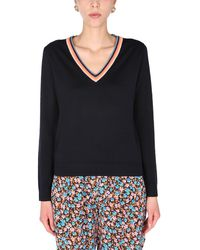 Paul Smith - V-neck Merino Wool Sweater - Lyst