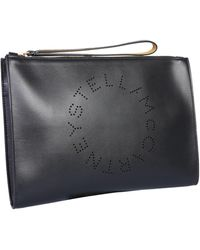 Stella McCartney Clutch With Lasered Logo - Black