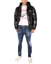 DSquared² Down Jacket With Logo - Black