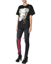 Versace Medusa Head Printed T-shirt - Black