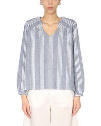 Woolrich V-neck Shirt - Blue