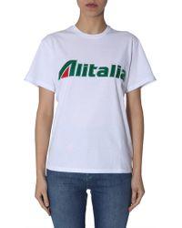 Alberta Ferretti - T-Shirt Alitalia By - Lyst