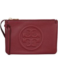 Tory Burch Perry Bombe Hammered Leather Clutch