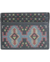 Etro - Carpet Print Leather Card Holder - Lyst