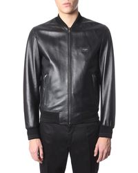 Dolce & Gabbana - Jacket With Logoed Plate - Lyst